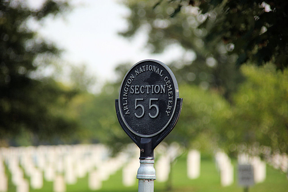 Arlington National Cemetery - Section 55 marker - 2011