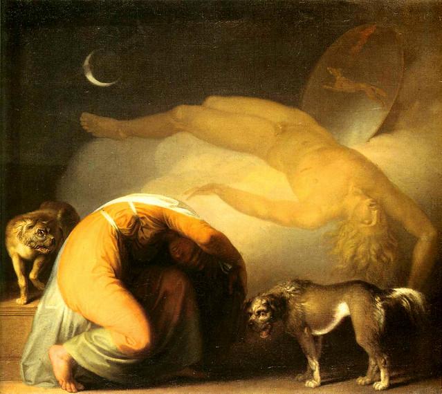 Abildgaard, Nicolai  (Danish, 1743-1809)   - Culmin's Ghost appears to his Mother  c 1794