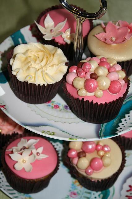 Vegan wedding cupcake