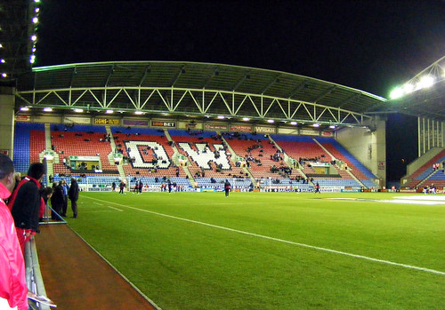 DW Stadium North Stand warmup - Wigan Athletic v Aston Villa, 16 March 2010 | by illarterate