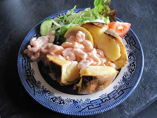 Jacket potato with prawns IMG_4191 | by tomylees