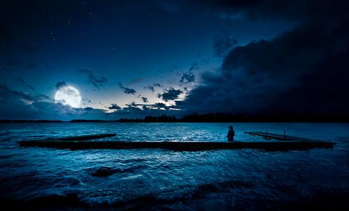 sea sky moon lake storm water night suomi finland nikon mood starry tuusulanjärvi d300 sakari mäkelä