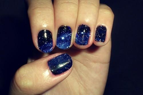 Blue Galaxy Nail Polish Navy Sky | jordan23queen | Flickr