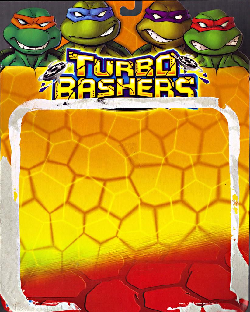TEENAGE MUTANT NINJA TURTLES  'TURBO BASHERS'  ::  ZANRAMON ..card backer i (( 2004 )) by tOkKa