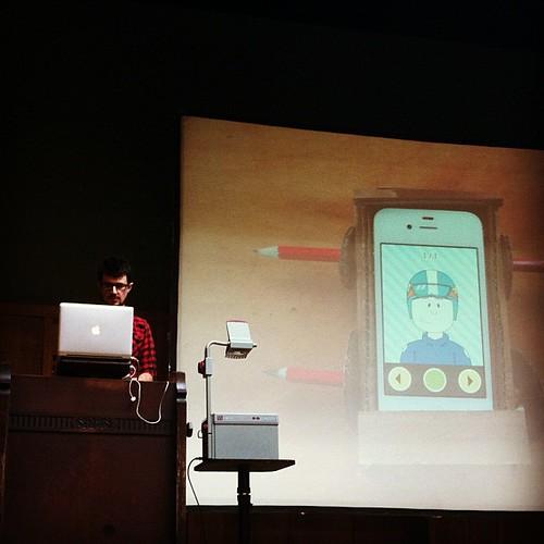 Chris O'Shea showing his upcoming car app at Playful | by eovemar