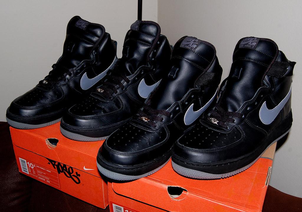 Nike Air Force 1 High Black Cool Grey Vintage 2002   Flickr
