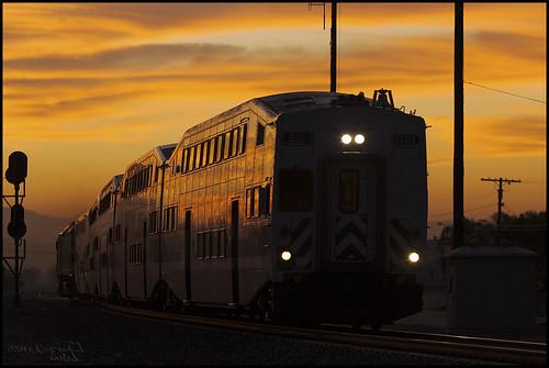 california backlight clouds sunrise canon outdoors socal transportation 5d canon5d metrolink canondslr commutertrain inlandempire alltrains cabcar scax sbcusa alltypesoftransport kenszok