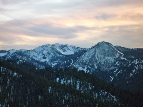 sunset snow mountains clouds idaho stanley summit sawtooth ketchum galena