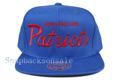reputable site b51ea f5fb1 NFL Mitchell & Ness - New England Patriots Snapback Hat Th ...