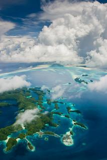 Palau Rock Islands from the air | by aussieSkiBum
