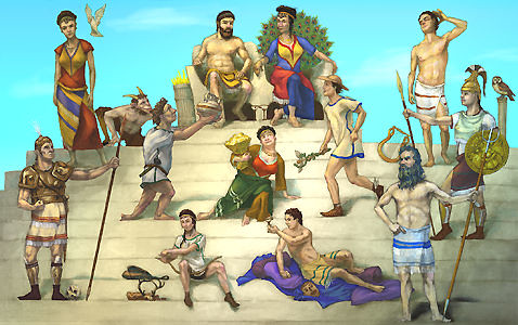 Greek Gods Family Tree Important Articles About Greek Gods