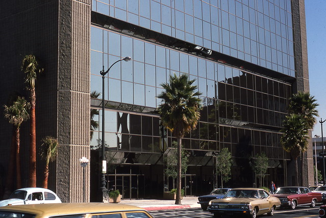 Academy Motion Picture building exterior 4 at 8949 Wilshire Blvd 1977 designed by Max Starkman & Associates