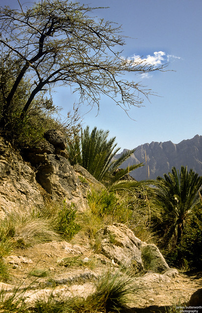 Above the village of Wakan Oman
