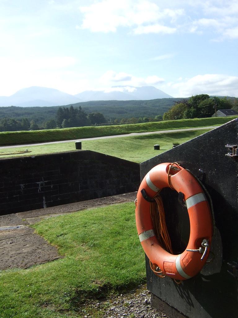 Rettungsring am Gairlochy Lock
