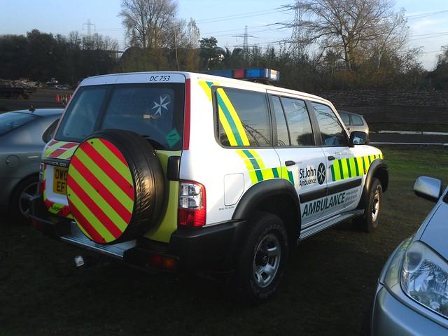 St John Ambulance / Nissan Patrol / Rapid Response Vehicle / DC753 / OW03 EFV