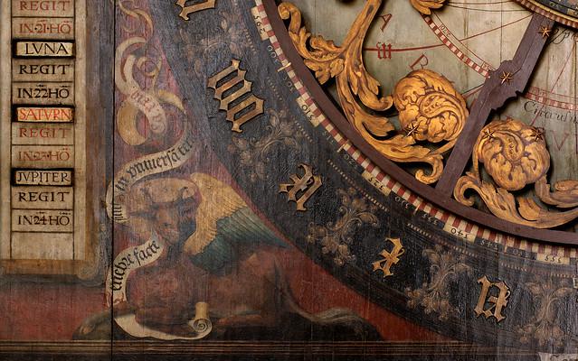 Münster, Westfalen, Paulusdom, astronomical clock, middle section, detail