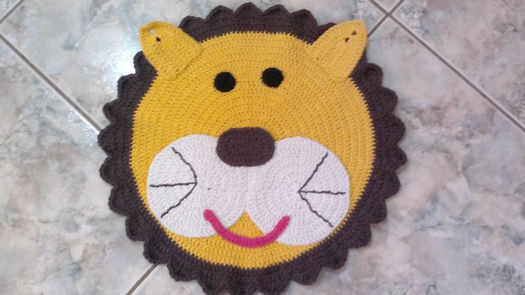 Tapete Leao Tapete Em Barbante Desenho Leao Betinha Sz Flickr