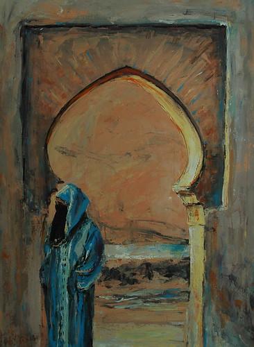 Kobieta w dżellabie   by mal-art