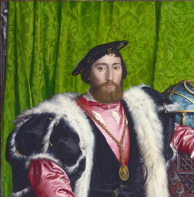 Hans Holbein dJ - Ambassadors - detail Jean de Dinteville
