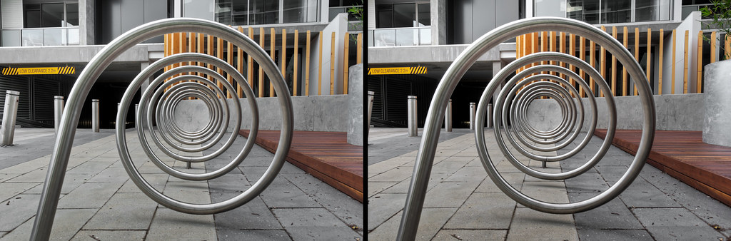 Spiral Bicycle Rack 3d Crossed Stereo Pair View Larger C Flickr