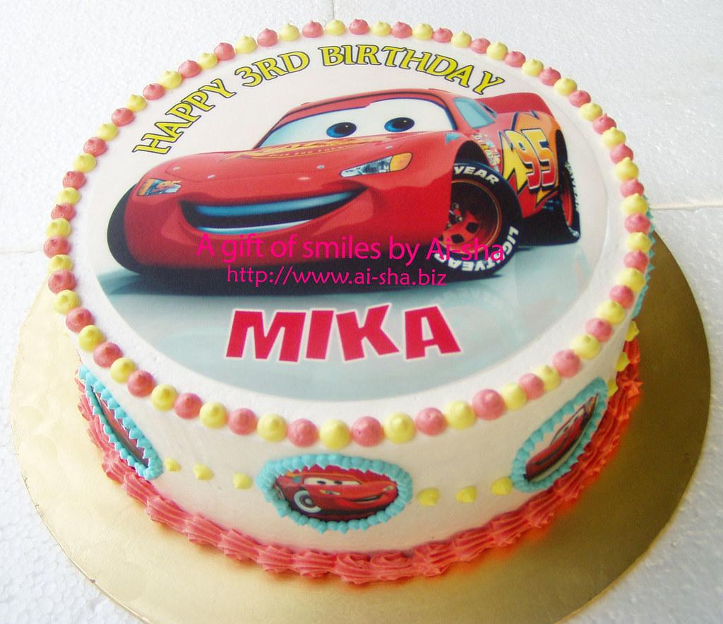 Birthday Cake Edible Image Disney Cars