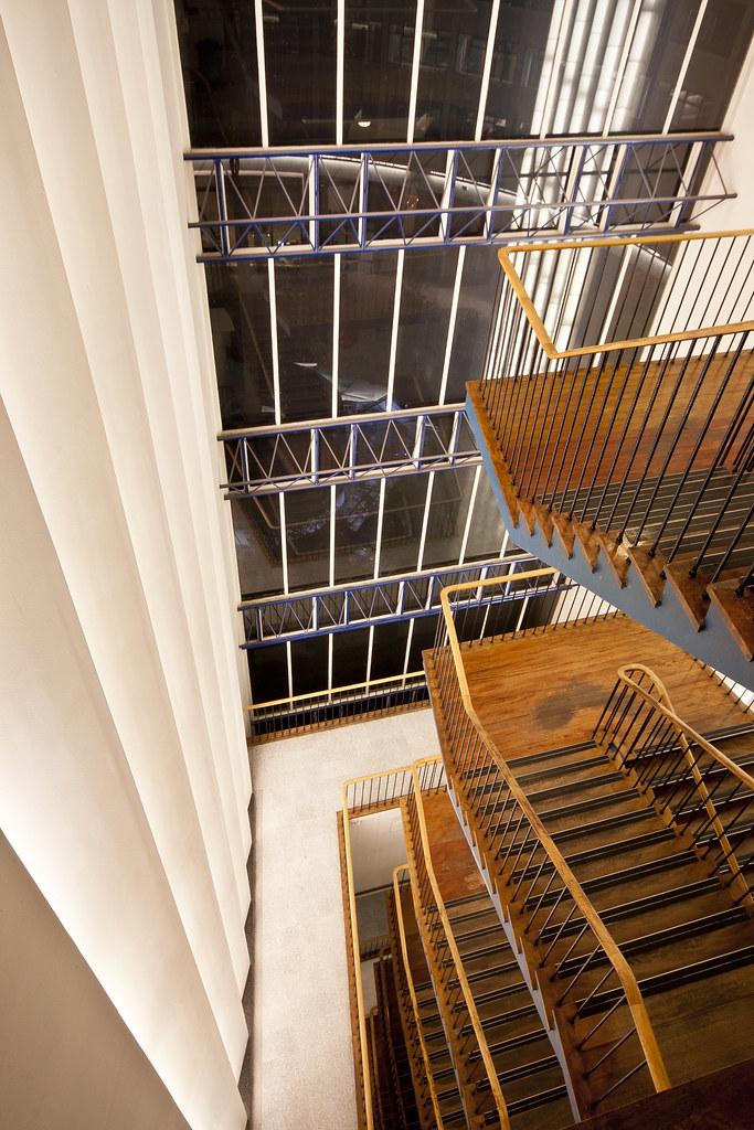 Cantilever Staircase | Cantilever Staircase, South Hall BBC … | Flickr