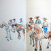 'Horsemen at the feria'; Pencil on paper; 38x30cm;