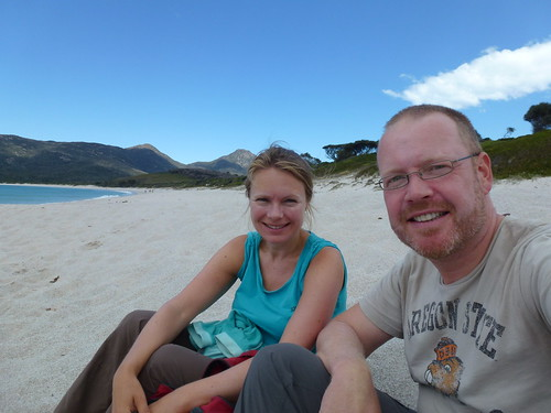 Freycinet NP - Wineglass Bay on the beach - 1