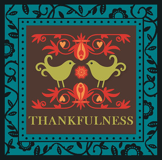 Thankfulness Frame Greeting Card | by tengrrl