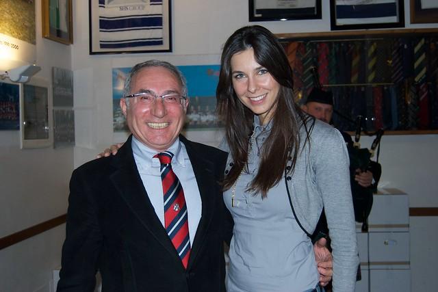 Il Presidente del Comitato Organizzatore, Fausto Pagani, con Tania Zamparo.