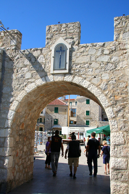 gate to the old town of Primosten
