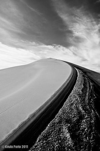 sky bw clouds landscape us blackwhite sand unitedstates dunes idaho stanthony