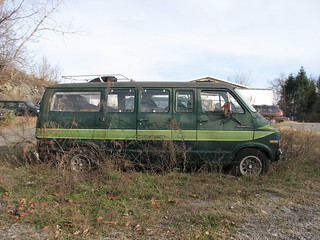 A 1976 DODGE SPORTSMAN VAN IN NOV 2011 | Now faded and rusty
