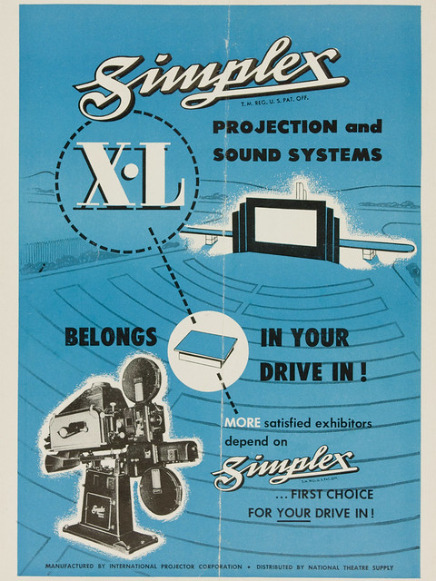 Simplex X-L Projection and Sound Systems | Belongs In Your Drive-In