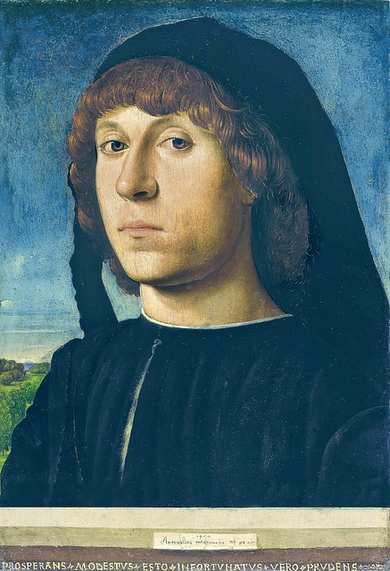 Antonello da Messina - Portrait of a young Man [1478]