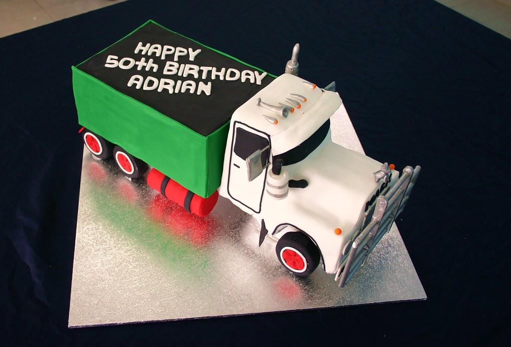 Surprising Mack Truck Cake This Is A Very Big Cake All Chocolate Mud Flickr Personalised Birthday Cards Sponlily Jamesorg