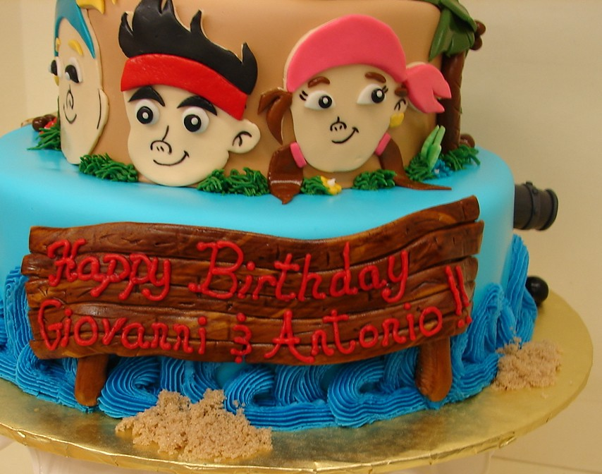 Awe Inspiring Jake And The Neverland Pirates Birthday Cake Jake And The Flickr Funny Birthday Cards Online Inifodamsfinfo