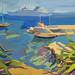 Le Port, St Jean Cap Ferrat; Gouache on board; 33x25cm