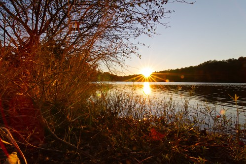 sunset fall birmingham alabama oakmountainstatepark doubleoaklake tokina1116