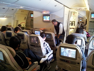 Cabina de clase turista - Volando con Emirates | by TrajinandoPorElMundo