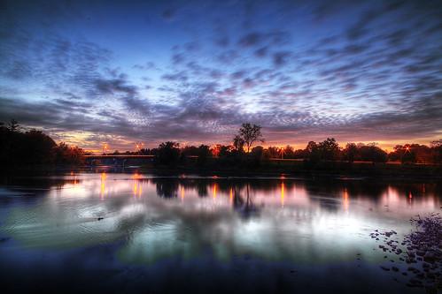 sunset ontario london clouds lighttrails bluehour hdr highdynamicrange starburst reflecions photomatix wonderlandroad
