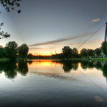 Olympiapark at sunset