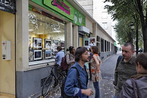 Expo Eva E. Davier à l'Antenne Jeunes Flandre pour Mon Expo en Vitrine 2011