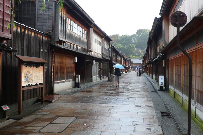 Rue traditionelle a Kanazawa au Japon