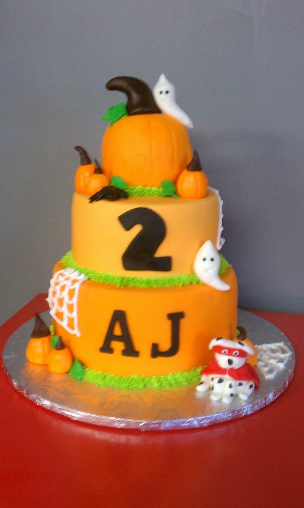 Brilliant Pumpkin Birthday Cake Clarissa Lopez Flickr Funny Birthday Cards Online Alyptdamsfinfo