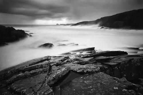 longexposure blackandwhite storm rocks talmine