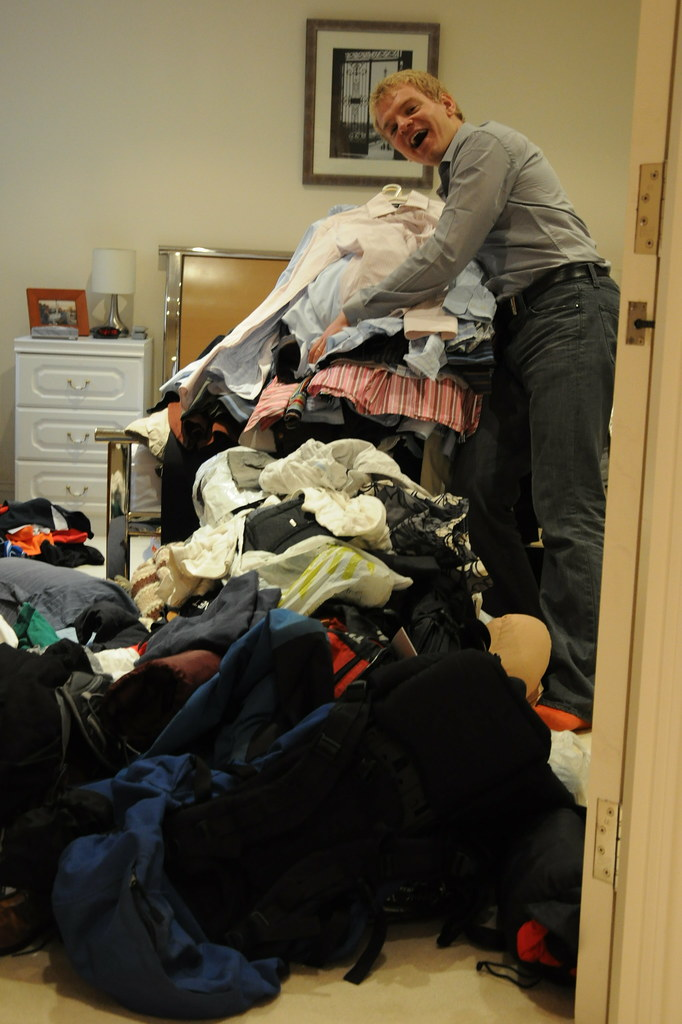 Hubby: 'So I think I'll clear out my wardrobe today...'
