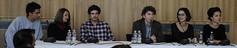 2011. október 28. 11:26 - balról: Gonzague Lacombe (Kiállítás design, grafikai arculat), szinkrontolmács, Philippe Rizzotti (Kiállítás építészet), Bencsik Barnabás (igazgató), Erőss Nikolett & Somogyi Hajnalka (Kurátorok)