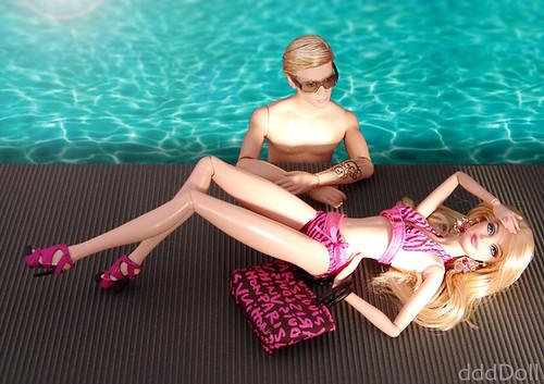 Harley Davidson Ken + Holiday 2010 Barbie