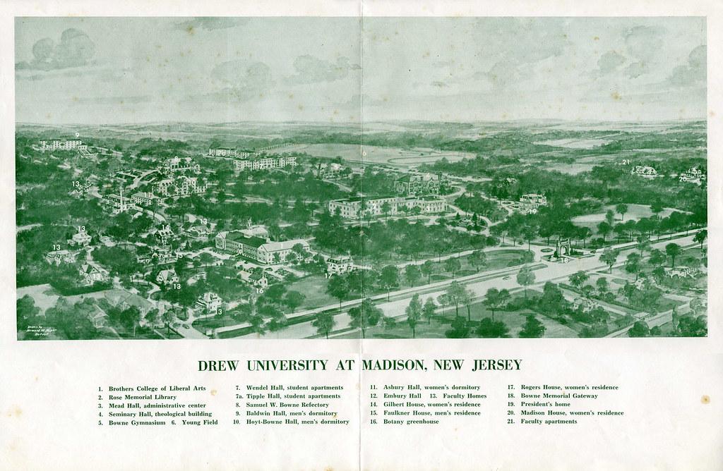 The 1950s Campus Map Drew University Flickr